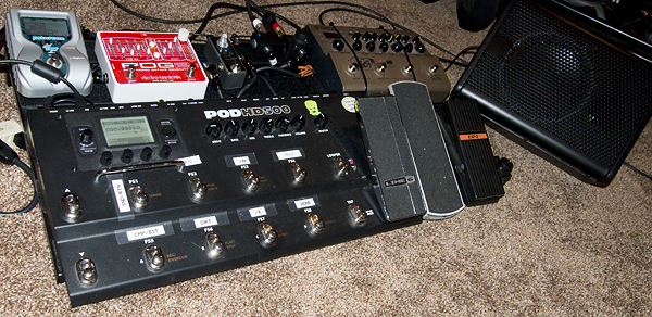 Pedalboard as of July 2014